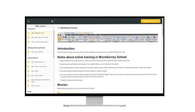 Online School Starting Page